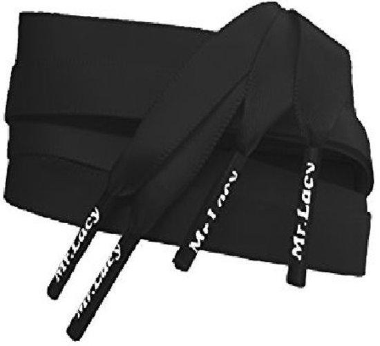 Smalle Zwart satijnen zijden schoenveters 120cm MrLacy