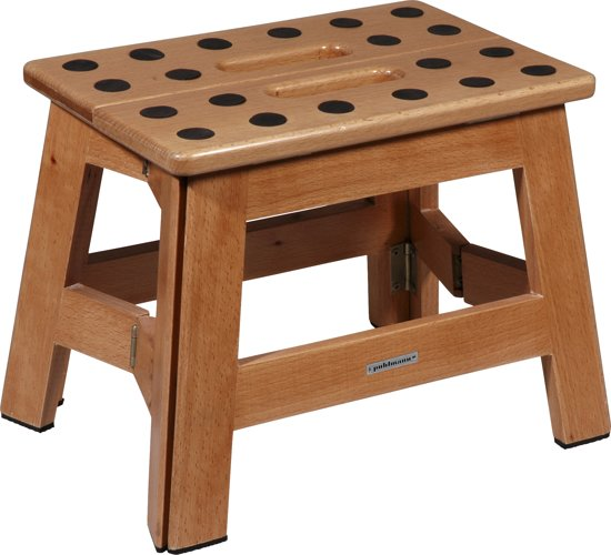 PUHLMANN - JAMES foldable stool WOOD, Foldable stool /beech- wood