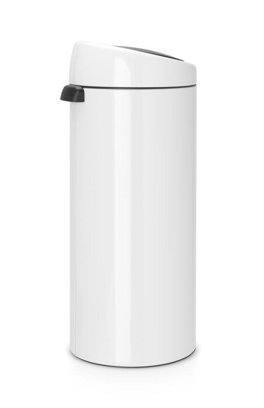 Brabantia Touch Bin 30 Liter Wit.Brabantia Touch Bin Prullenbak 30 L Wit