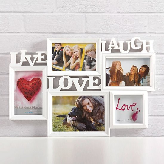 Bolcom Live Laugh Love Fotolijst 5 Fotos