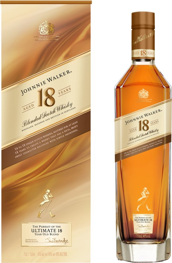 Johnnie Walker Platinum Label 18 Year Old Whisky - 1 x 70 cl
