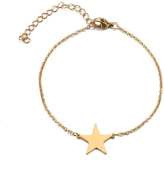 RVS ster armband 17-20 cm | bff | sterretje