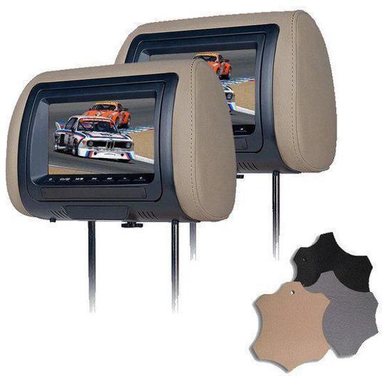 Bullit Universele DVD hoofdsteunen set met 7inch LCD scherm in Miedum