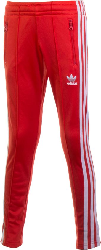 bol.com | adidas SST Sportbroek - Maat 122 - Unisex - rood/wit