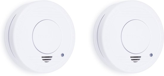Smartwares RM250 Rookmelder - 2-pack - Inclusief batterij - Testknop - Pauzeknop - 85 dB