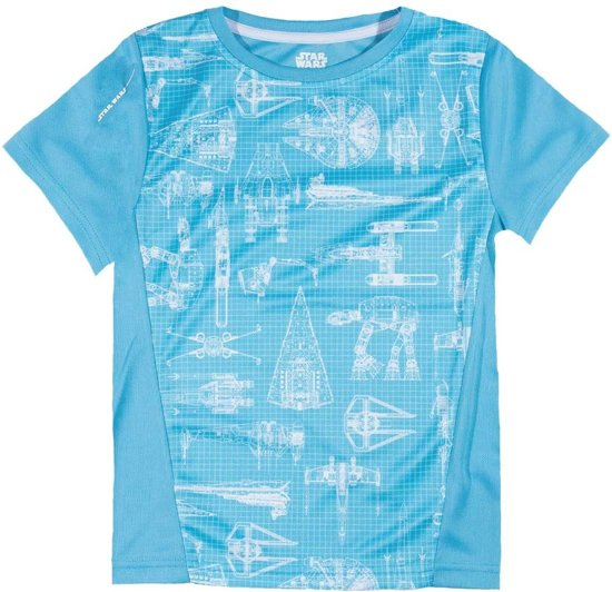 Star-Wars-Active-Wear-T-shirt-met-korte-mouw-blauw-maat-128