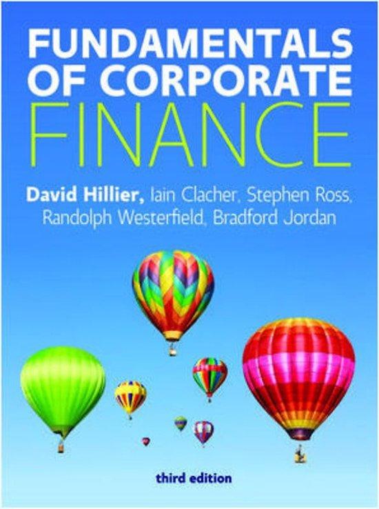 Fundamentals Of Corporate Finance/Hillier 3e