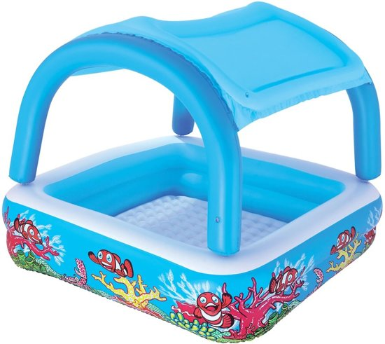 Bestway speel zwembad met kap blauw 147x147x122 cm 52192