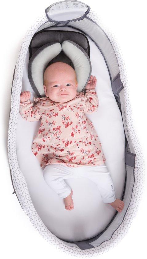 B-Baby co-sleeper with Light Grey
