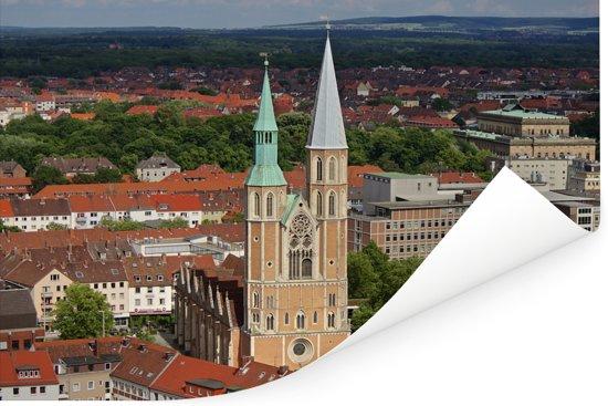 Skyline van Braunschweig in Duitsland Poster 90x60 cm - Foto print op Poster (wanddecoratie woonkamer / slaapkamer) / Europese steden Poster