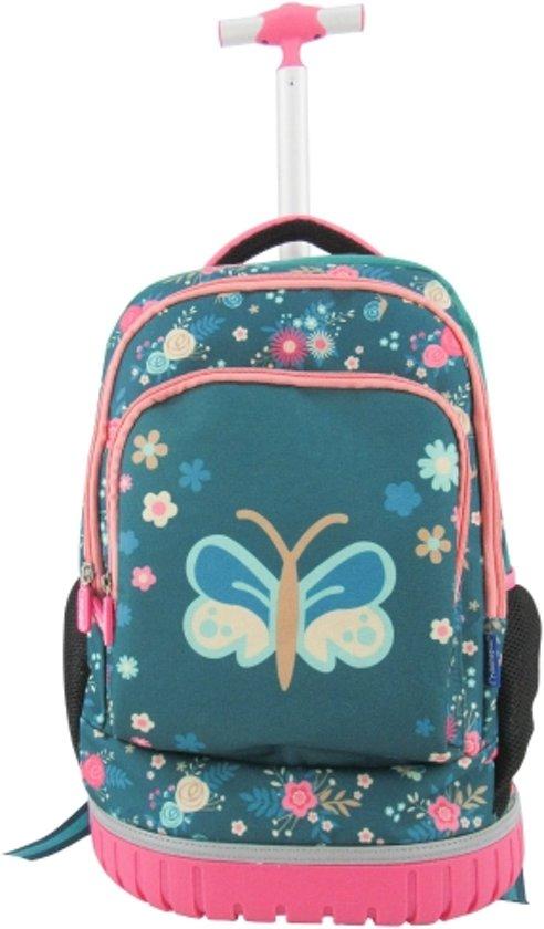 121bc949379 Imaginarium Bloesem Backpack Trolley - Rugzaktrolley voor Kinderen - Rugzak  met Bloemen voor Meisje