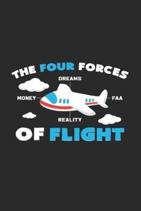 Four forces of flight: 6x9 Flight Attendant - blank with numbers paper - notebook - notes