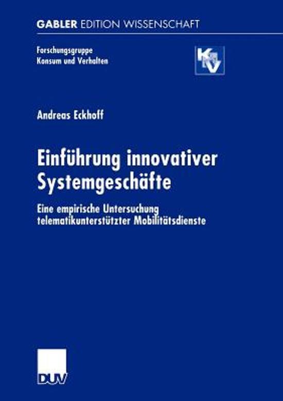 Einfuhrung Innovativer Systemgeschafte