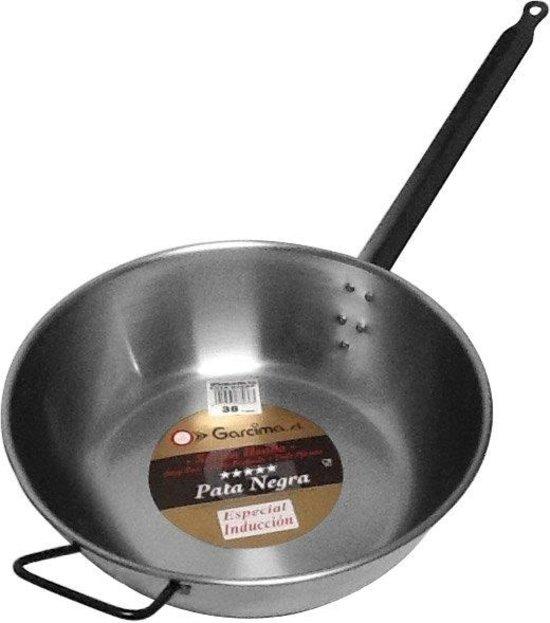 Lyonnaise pan hoog met tegengreep, plaatstaal, 40 cm - Garcima