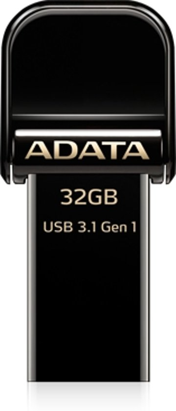 ADATA AI920 32GB USB flash drive USB Type-A / Lightning 3.2 Gen 1 (3.1 Gen 1) Zwart