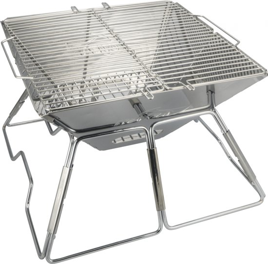 AceCamp BBQ grill opvouwbaar | Large stainless steel  42 x 42 x 27 cm