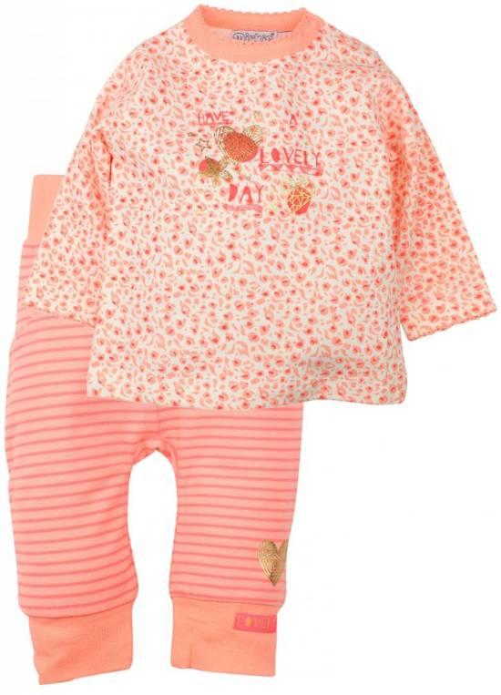e039bf22bc16ce bol.com   One size - Dirkje 2-delig setje Neon Peach Lovely maat 74