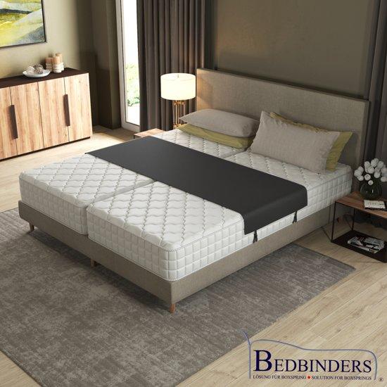 ZWART - Bedbinder - Bedbinders | Verhelpt het schuiven van matrassen & vermindert de geul in het midden van uw bed