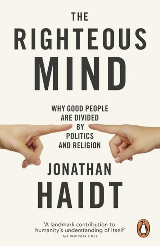 Boek cover The Righteous Mind van Jonathan Haidt (Onbekend)