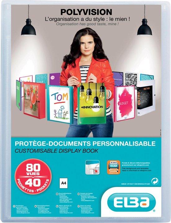 8x Elba showalbum Polyvision 40 tassen, transparant