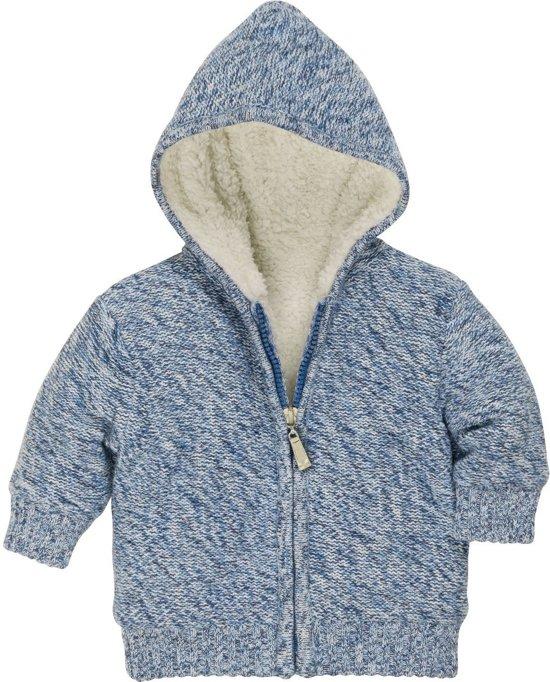 Playshoes Vest Met Rits En Capuchon Junior Blauw Maat 62