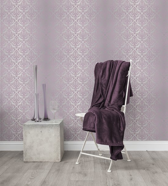 HnL Living - Plaid - Flannel Fleece - 150 x 200 cm - Magenta