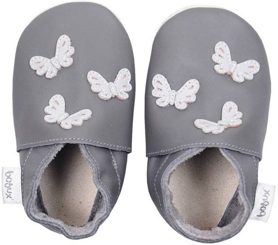 babyslofjes Grey butterflies Maat: L (138 cm)