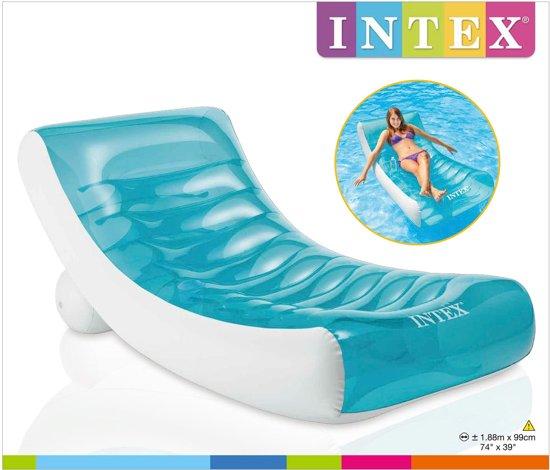 Intex Lounge Luchtbed zwembad   58856   zwembed   Loungestoel   Rockin lounge   188x99cm   Zwembad