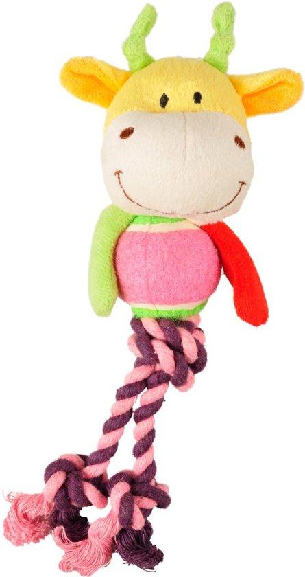 Flamingo Hondenspeelgoed Hert Tennisbal - Roze - 8 x 6