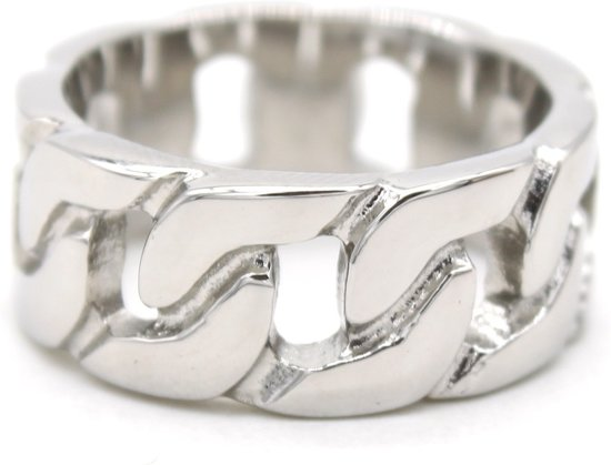 Ring met Schakel - RVS - Ringmaat 19 - Zilverkleurig - Musthaves