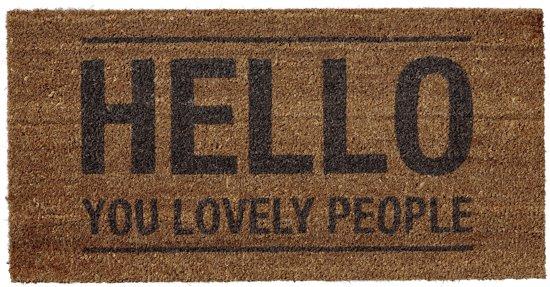 Bloomingville - Deurmat - Kokos - 'Hello You Lovely People'