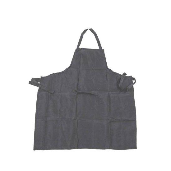 Barbecue schort - zwart - unisex - katoen - universeel