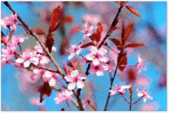 Outdoor canvas schilderij bloemen lente for Schilderij buiten intratuin