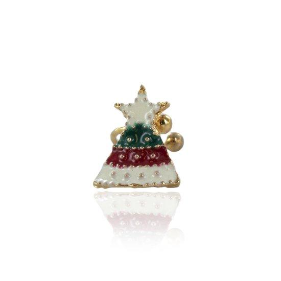 Fake oorpiercing kerstmuts ©LMPiercings