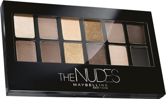 Maybelline The Blushed Nudes Oogschaduwpalet - 12 Nude Bruin Tinten