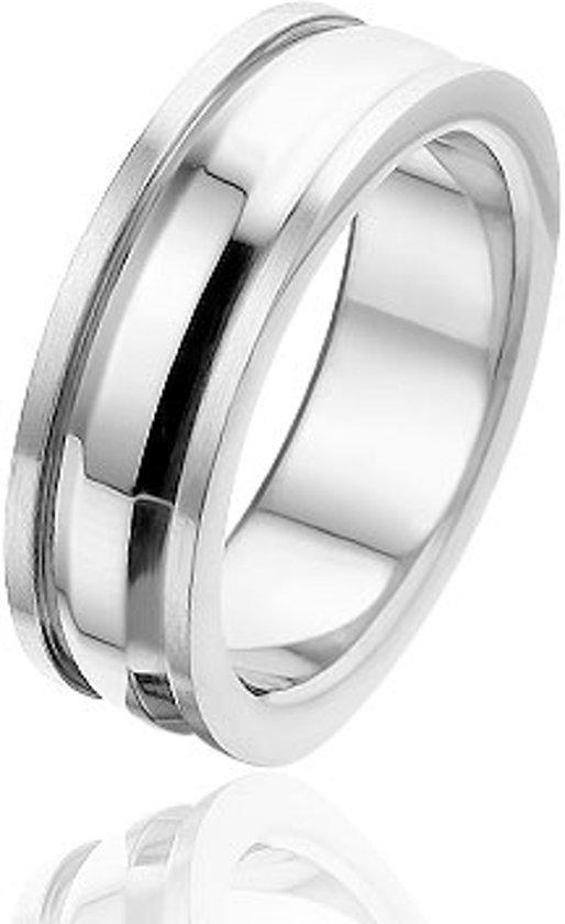 Montebello, edelstalen ring, Lovers, maat 64