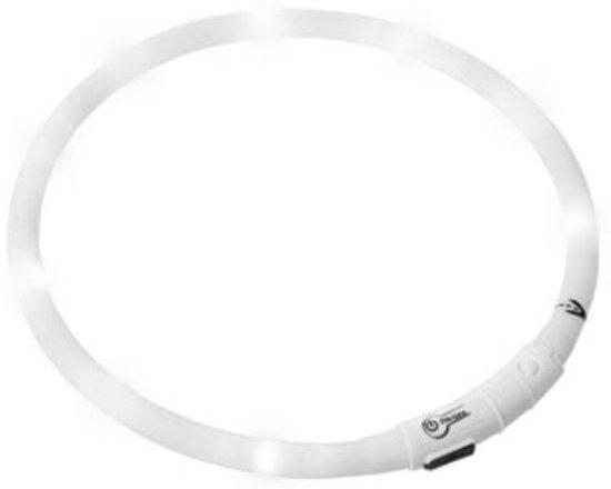 LED Honden Halsband - Wit - 20 tot 70 cm