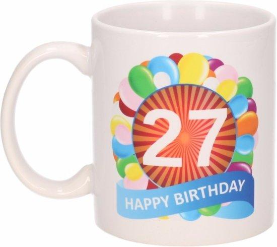 Bol Com Verjaardag Ballonnen Mok Beker 27 Jaar Shoppartners