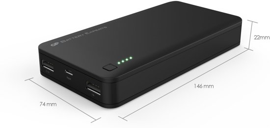 Portable PowerBank 3C20A Black 20.000mAh