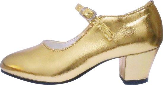 fbadc540268e9f Anna Prinsessen schoenen, Spaanse schoenen goud - maat 32 (binnenmaat 21  cm) bij