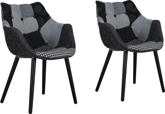 Zuiver eleven stoel multi met arm set van 2 for Stoel eleven