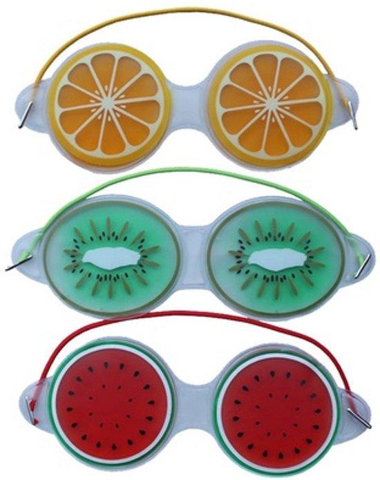Premium Fruitige Set Oogmaskers met Verkoelende Gel - 3 Stuks | Verkoelend voor de Vermoeide Ogen en Verwijdert Wallen | Anti Rimpel en Wallen Verwijderaar | Oogmasker met Koelende Gel | Eye Gel Mask