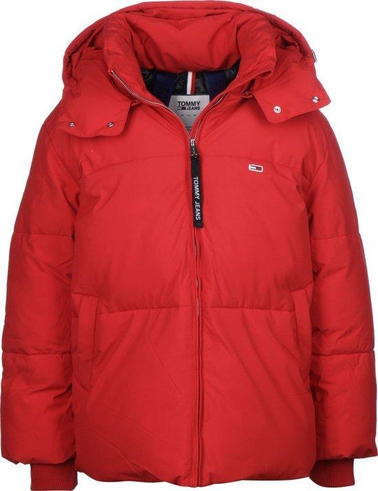 Tommy Hilfiger Tommy Jeans TJW Oversized Puffa Jacket rood maat XL winterjas voor dames