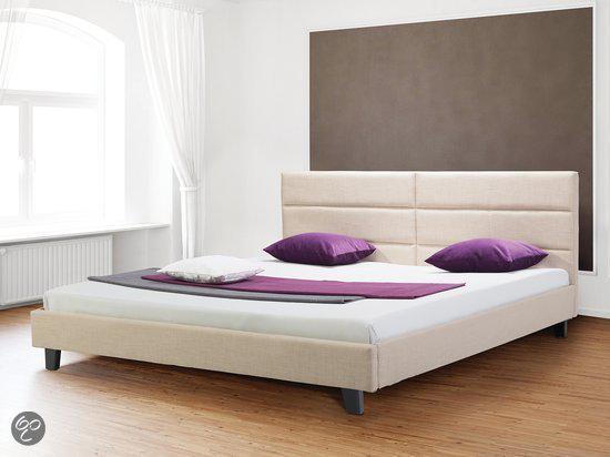 bol beliani orleans bed grijs 140 x 200 cm