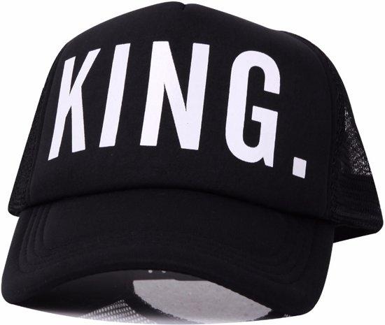 hete verkoop online kind origineel King Trucker Pet - Black Urban Hiphop Rapper Snapback Baseball Cap - Heren  - Zwart / Wit