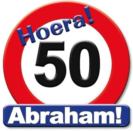 abraham 50 jaar bord bol.| Huldeschild Abraham 50 jaar, Merkloos | Speelgoed abraham 50 jaar bord