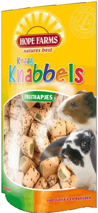 Hope Farms Knaagknabbel Fruithapjes - 100 gr - Knaagdiersnack