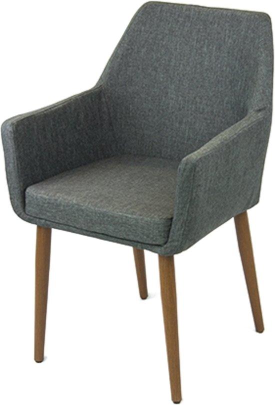 Label51 tigo eetkamerstoel grijs for Eetkamerstoel fauteuil