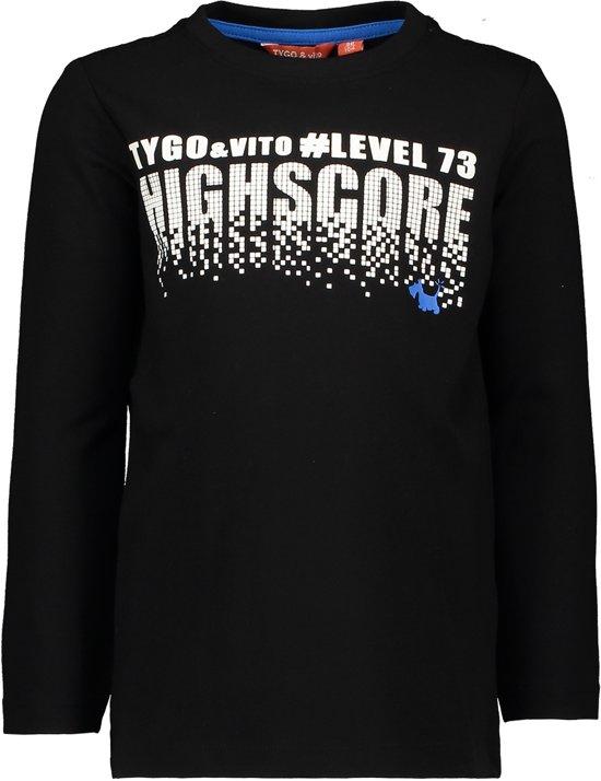 TYGO & vito Jongens T-shirt - zwart - Maat 122/128