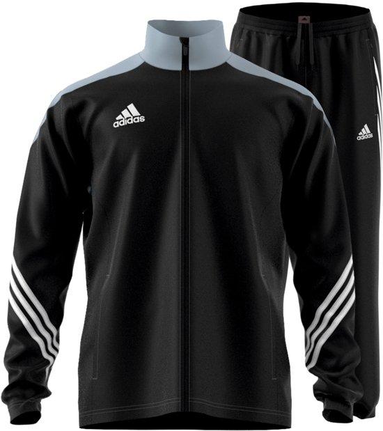 adidas Sereno 14 Presentatie  Trainingspak - Maat S  - Mannen - zwart/grijs/wit
